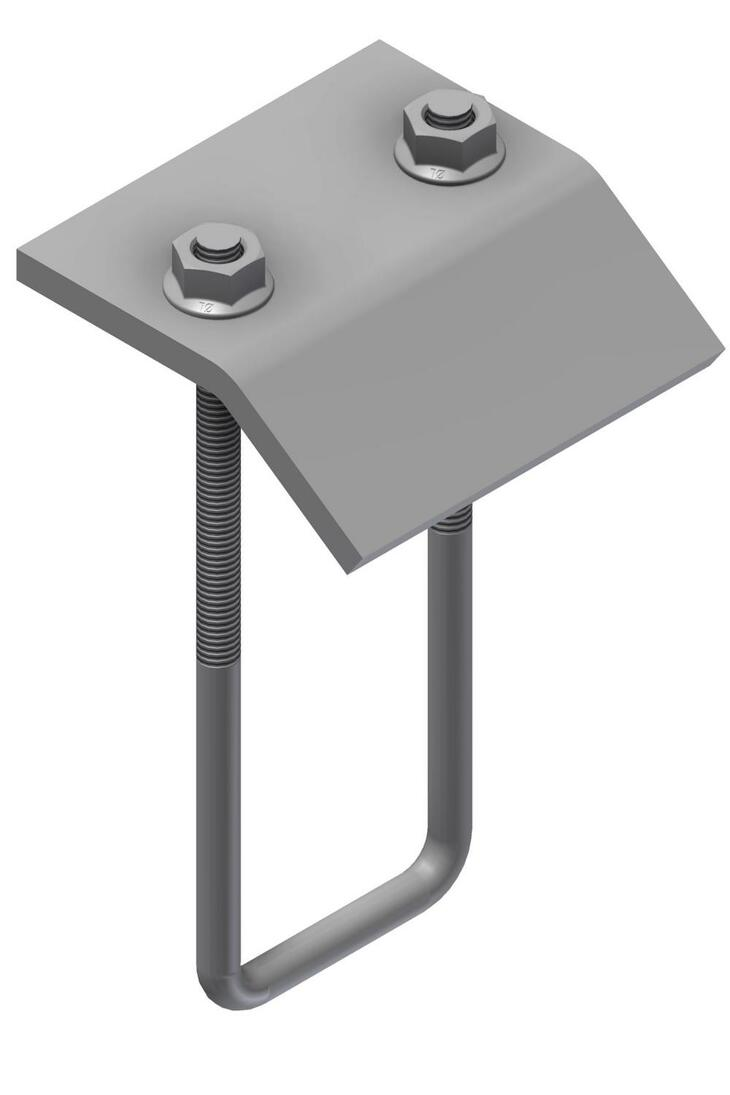 Beam clamp with 1 U-bolt included S-UNO D-87-B HDG - Øglænd system