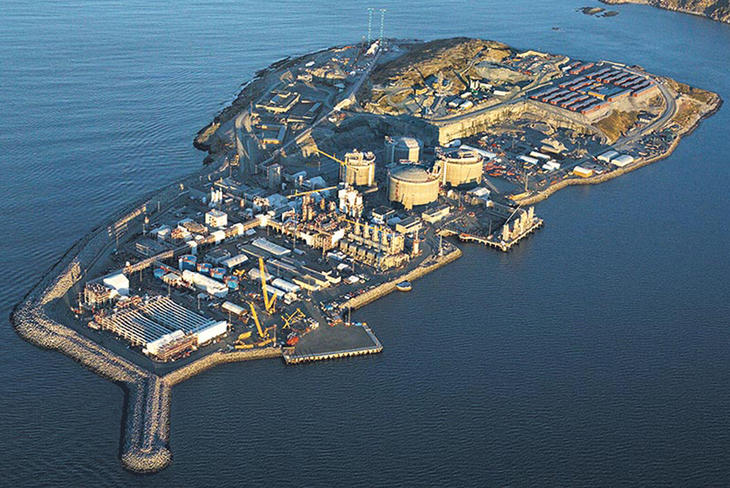 The Snøhvit facility at Melkøya