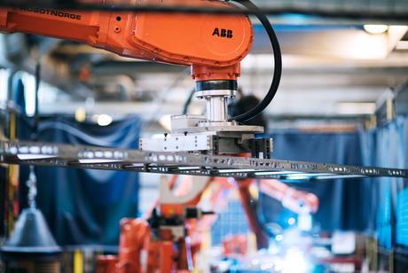 Factory welding robot
