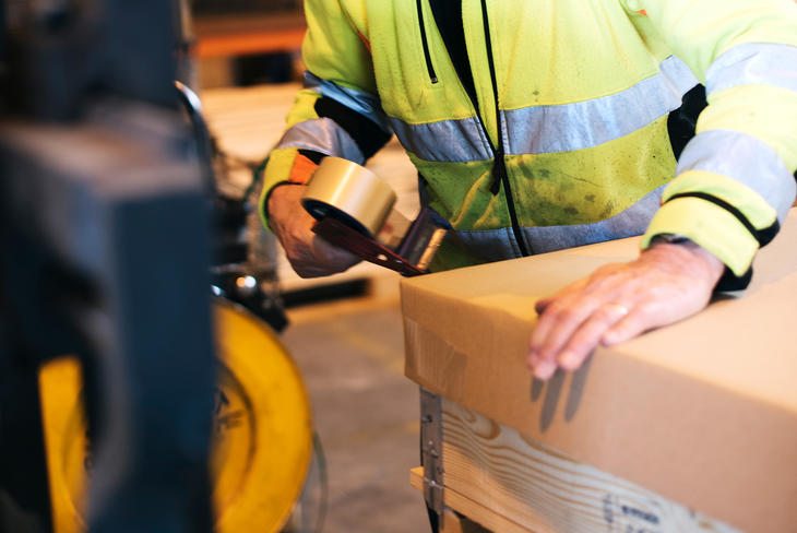 PACKAGING: Our expediting department packs and dispatches more than 100 shipments every day.