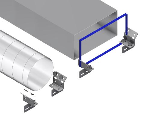 HVAC universal clamp