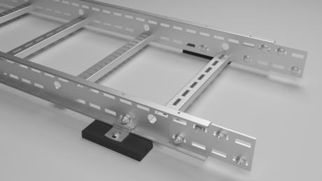 Kabelstige montert på innkapslet magnet