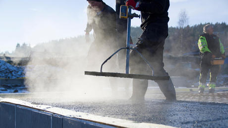 Casting concrete in winter time