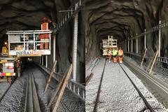 Cable ladders in the Henrikdals tunnel at Saltsjöbanan © Øglænd System