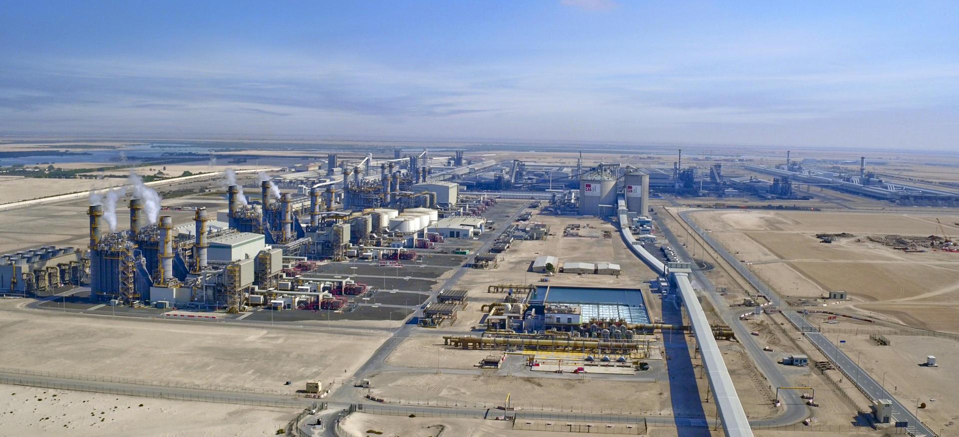 Aerial view of Al Taweelah. Copyright © Emirates Global Aluminium