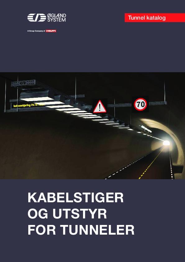 Tunnelkatalog, kabelstiger og utstyr for tunneler.