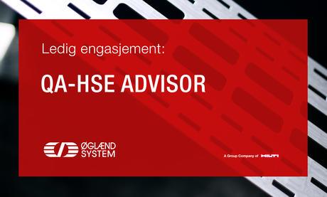 QA-HSE Advisor stilling