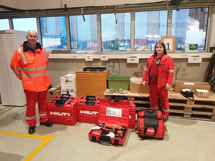 New Hilti equipment for Kvaerner Stord