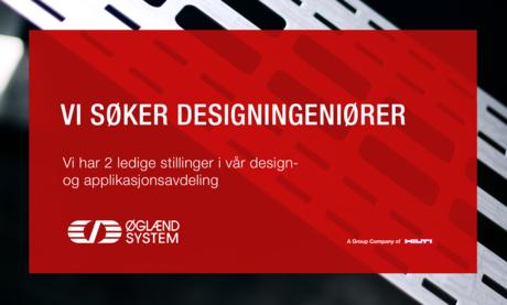 Vi søker designingeniører